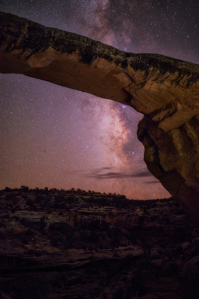 Milkyway Hiding Behind  Owachomo Bridge