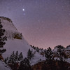 Jupiter Over Zion in Winter