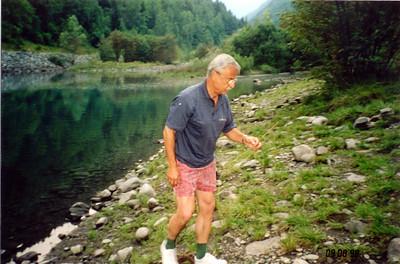 Papa at my fishing spot!
