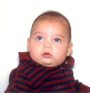 Lucas' passport photo at 3 months