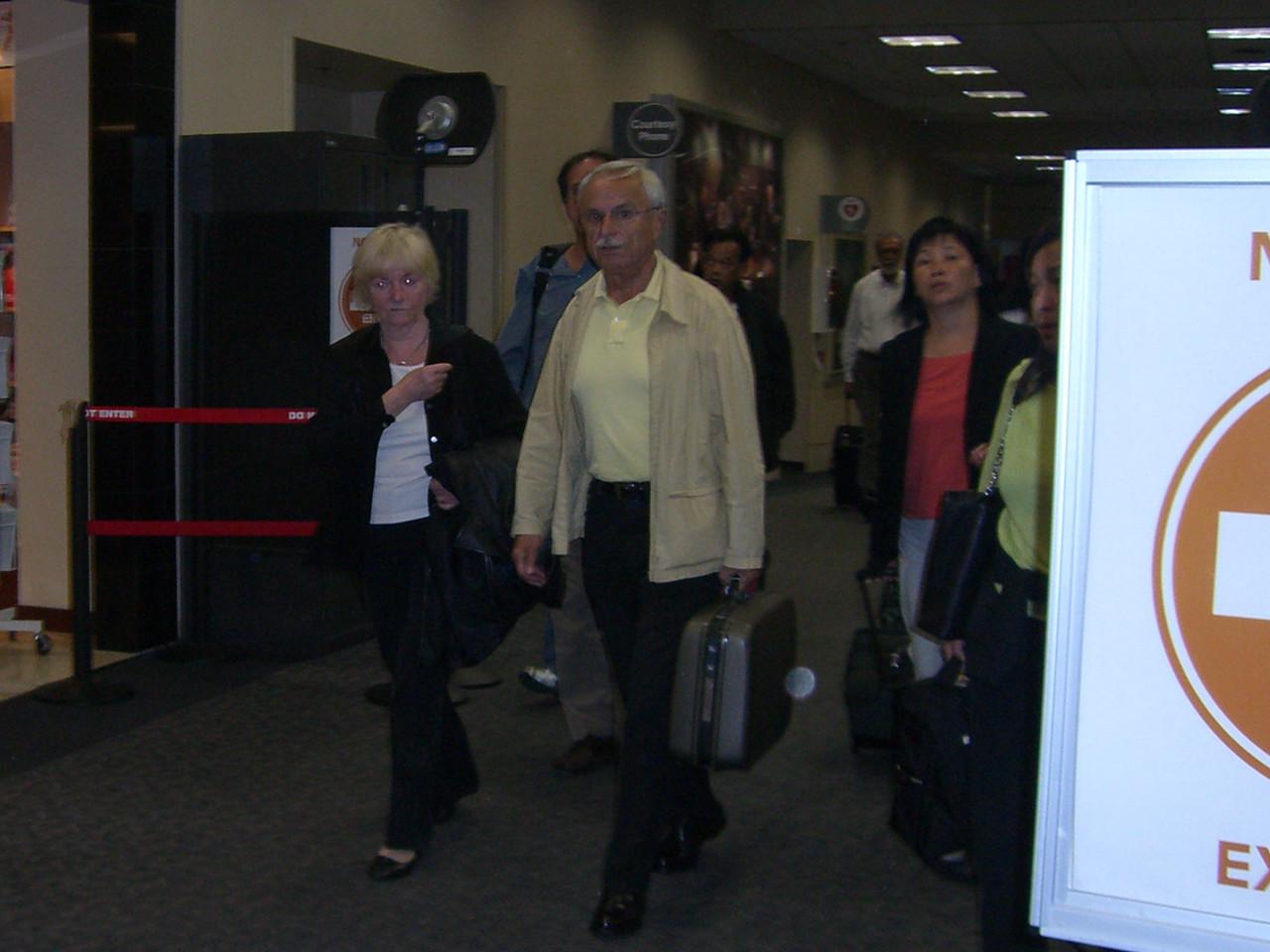 Oma & Opa arriving at SFO