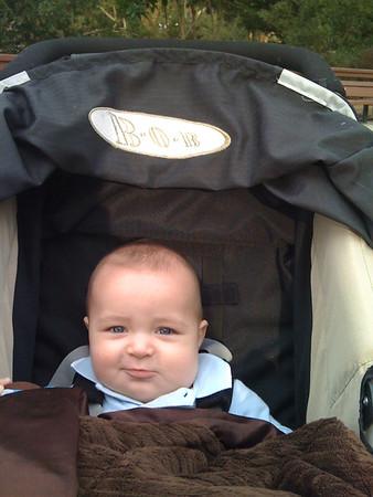 Big baby likes the playground