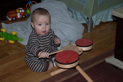 Drumming is difficult (poor baby)