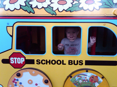 Mr. Messy in the school bus