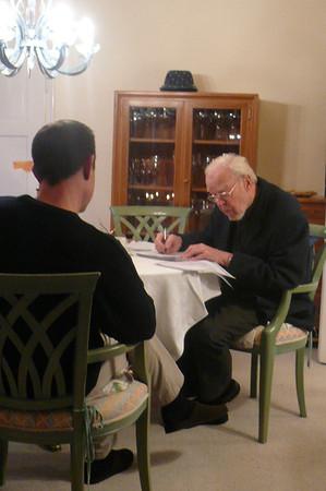 Preparing for Rémy's baptism with Pfarrer Benz