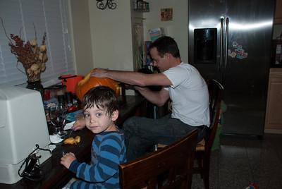 Carvin' the pumpkins