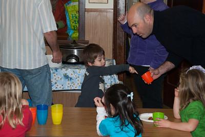 Jared bartending the kids