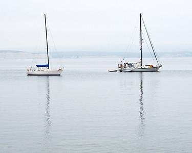 Sailboats in the morning at Pt. Reyes