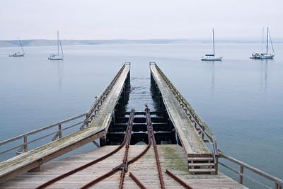 Boat ramp at Pt. Reyes