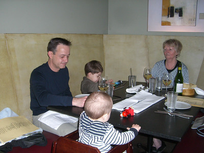 Birthday dinner with Oma at EOS, Cole Street