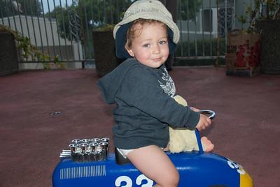 Riding boy...