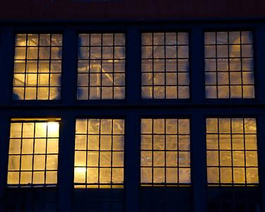 Lit windows on Mare Island