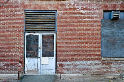Old door and brick wall on Mare Island.