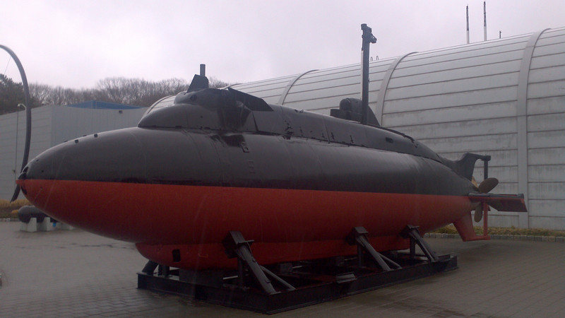 X-1, the only midget submarine in the US Navy. Originally used to evaluate a hydrogen peroxide engine, later used to evaluate the vulnerability of US naval bases to midget submarine attacks.