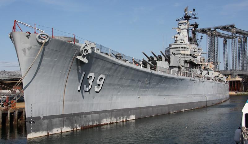 USS Salem, a heavy cruiser.