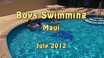Now they swim...