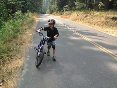 Brave Lucas riding with Papa