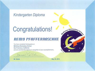 Rémy Kindergarten Diploma