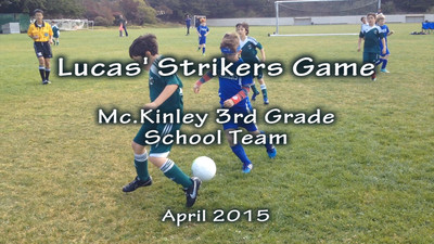 Lucas soccer with Strikers