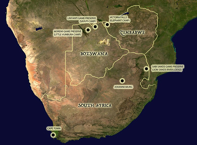 Our destinations in 2013.