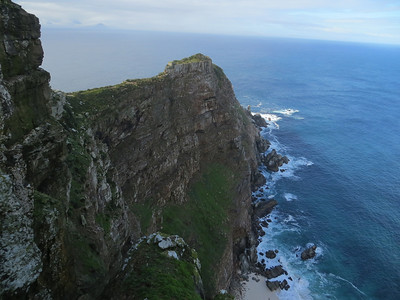View from Cape of Good Hope -- Pacific Ocean to the right, Indian Ocean to the left.