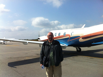 Ed boarding the plane for our flight out to the Lion Sands Reserve, near the Kruger SA National Park.