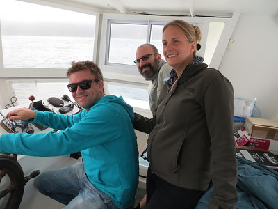 Early morning boat trip out to Druiker Island to see the Cape Fur Seal colony. Our tour guide Paola and her husband Gareth… showing us a great time!