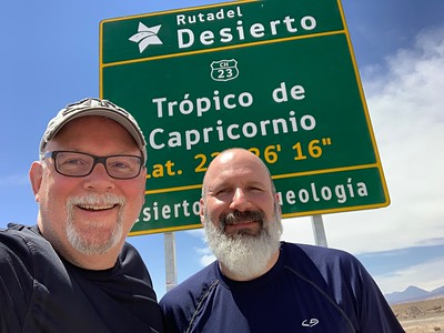 Ed and Joe at the Tropic of Capricorn.