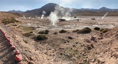A veiw of the geyser field.