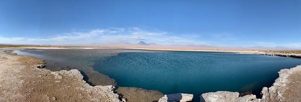 Another picture of Laguna Tebinquiche, prior to sunset. As the sun goes down, the colors of the lake and mountains behind it change.