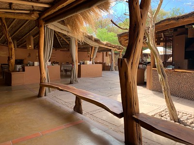 Our lodge, Awasi Atacama. This is the meeting area and dining room.