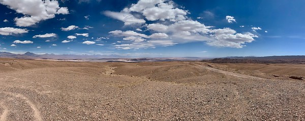 The Atacama Desert is the driest place on earth. The scenery is breathtaking.