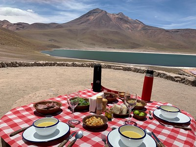 Our guide, Barbara, set up a wonderful lunch with a terrific view!