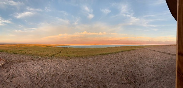 The colors at Laguna Tebinquiche during sunset are stunning.