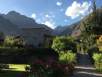 This is the Sol y Luna Hotel in Urubamba. The landscape was beautiful and the accommodations were fantastic!