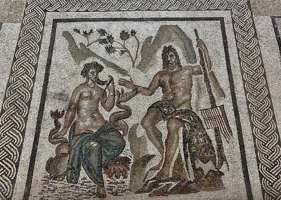 Mosaic tiles inside the Alcazar in Cordoba