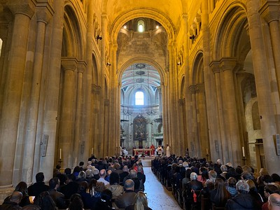 Inside Se de Lisboa Cathedral in Lisbon