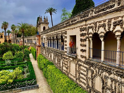 Gardens at the Real Alcazar in Seville, Spain