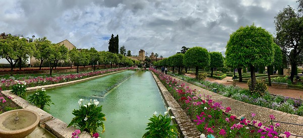 Gardens at the Alcazar de los Reyes Cristianos (Cordoba, Spain)