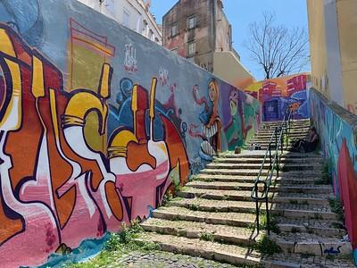 Graffiti artist taking a break in the afternoon heat (Lisbon)