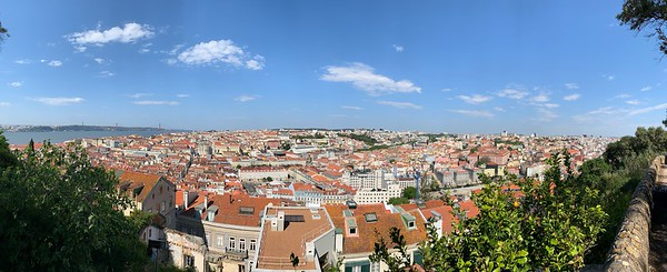 Lisbon from the walls of Castelo Sao Jorge