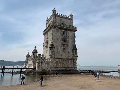 Low tide at the Belem Tower in Lisbon.