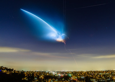 SpaceX Falcon 9 over Orange County