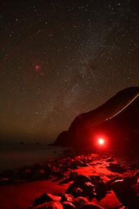 Limekiln Beach Red Night