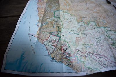 Map of Ventana Wilderness