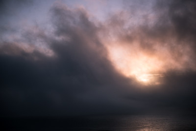 Cloudy Sea in Big Sur