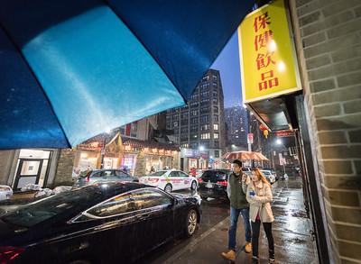 Boston in the Rain