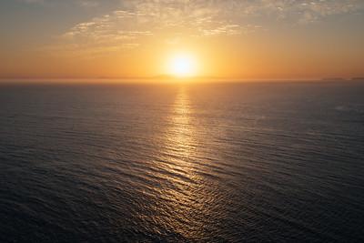 Sunrise from Santa Cruz Island