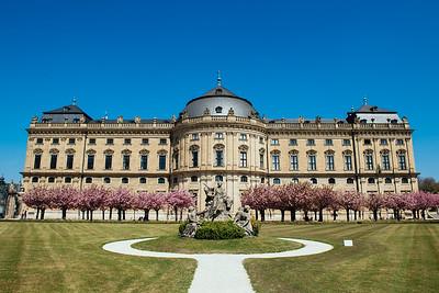 Wurzburg Residenz Garden Exterior