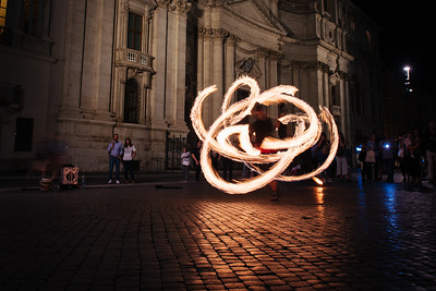 Firedancer in Piazza Navona